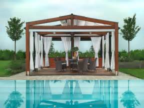 Outdoor Pergola Drapes Shaded To Perfection Elegant Pergola Designs For The
