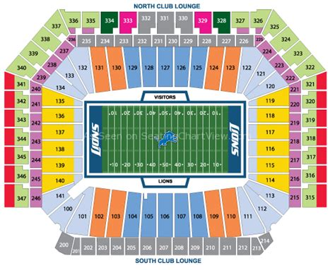 detroit lions 3d seating chart ford field detroit mi seating chart view
