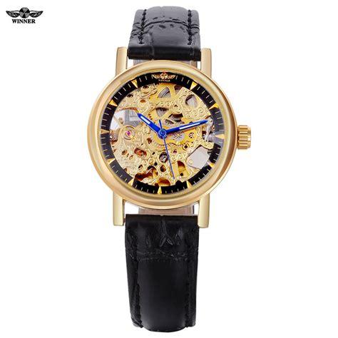 Winner Skeleton Leather Automatic Mechanical Watc Diskon aliexpress buy 2016 winner watches luxury brand skeleton automatic mechanical