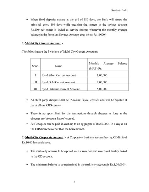 Letter Of Credit Syndicate Bank Syndicate Bank S Product Services Customer Care