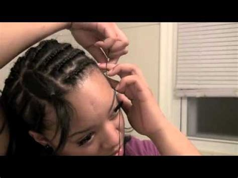 sew in with side bang pattern side bang sew in start to finish youtube