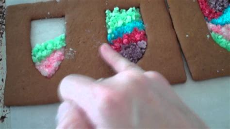 windows for gingerbread house gingerbread house with stained glass windows part 5 youtube