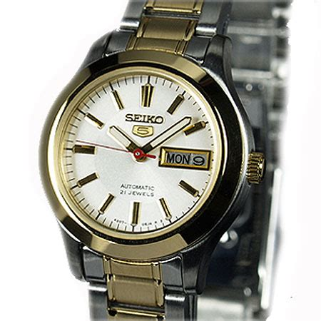 Seiko 5 Automatic White Second by Seiko 5 Automatic Two Tone White