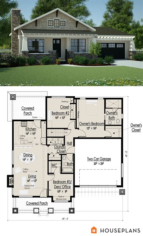 Architectural Plans For A Small Craftsman Bungalow 1200sft Sle Bungalow House Plans
