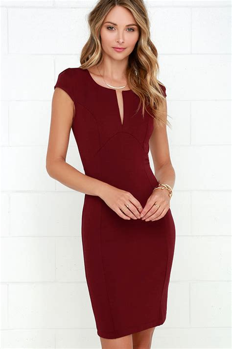 maroon dress midi dress bodycon dress 42 00