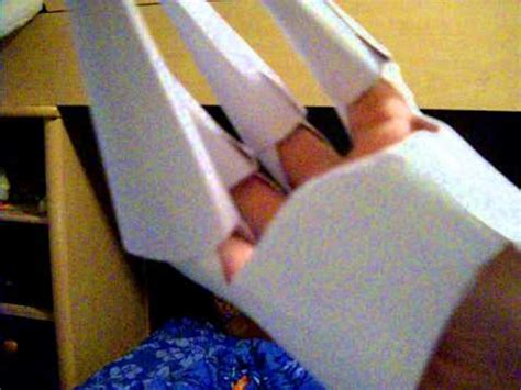 Origami Claw Glove - paper gloves equipt with claws