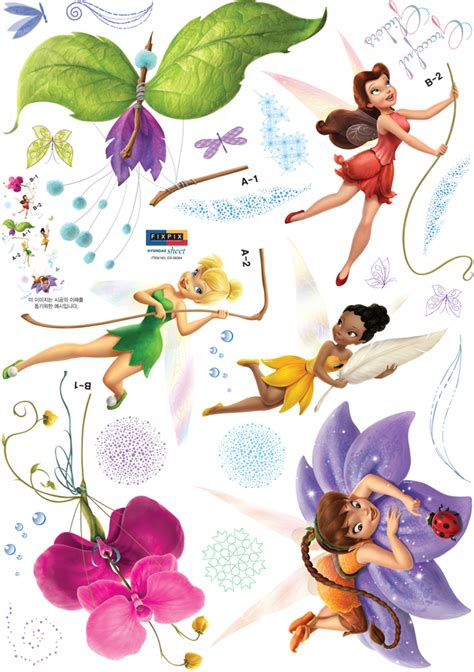 Disney Fairies Sticker Coloring Book disney fairies spiral wings tinkerbell wall stickers wallstickery