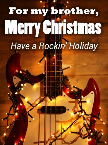 rockin christmas card for brother birthday greeting