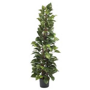 Artificial Climbing Plants - 63 inch climbing pothos plant potted 6613