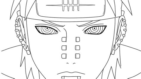 pain naruto coloring pages naruto pain coloring pages sketch coloring page