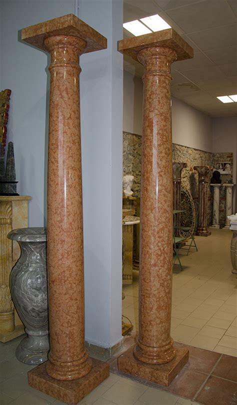 colonne in marmo per interni colonna alte rosso verona pietre raffaele cileo pietra