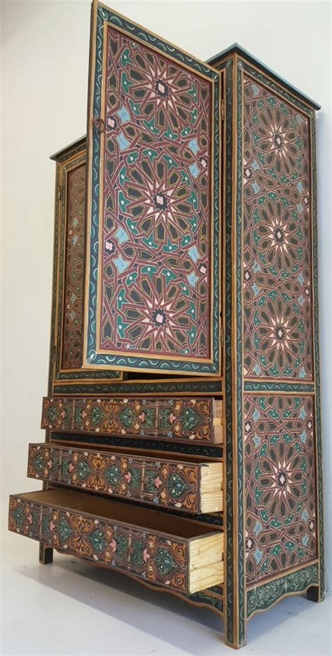 Moroccan Armoire by Moroccan Painted Armoire