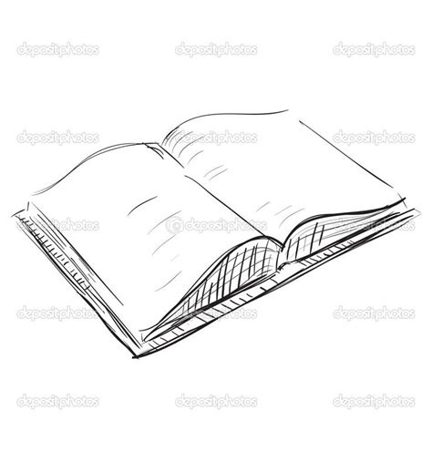 doodle drawing book drawings of books sketch open book icon stock vector