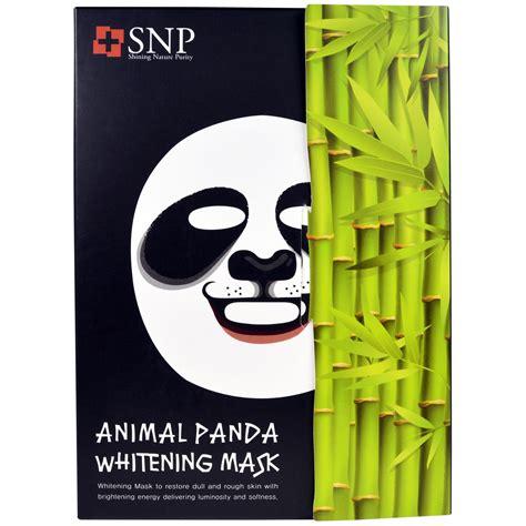 Masker Animal Snpanimal Mask 1 snp animal panda whitening mask 10 masks x 25 ml each iherb
