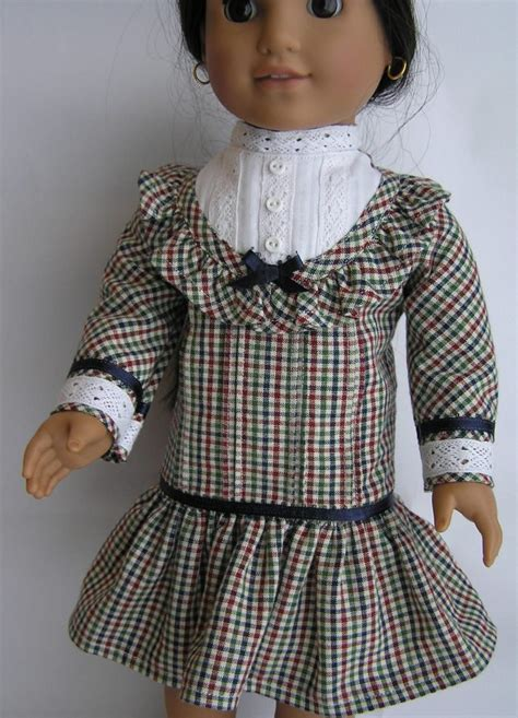 18 Nellys 2model Blouse Ready Blouse 1910 s plaid school dress for your 18 american