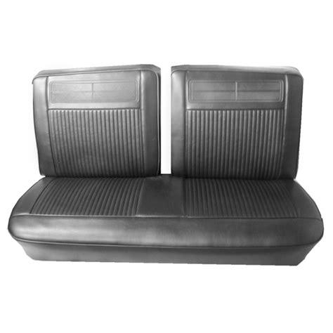 front split bench seat 1962 1964 chevrolet front split bench seat covers black