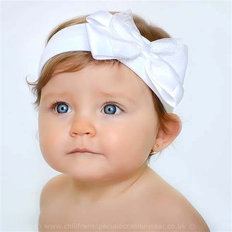 baby headbands baby headband uk baby white cotton headband with large satin