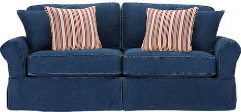 denim sofas for sale cindy crawford home beachside blue denim sleeper never