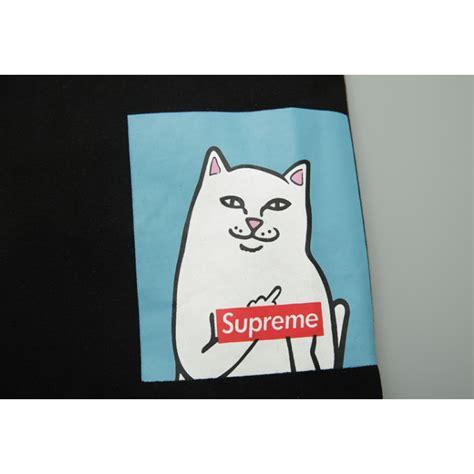 Kaos Rip N Dip X Supreme supreme ripndip cat t shirt black