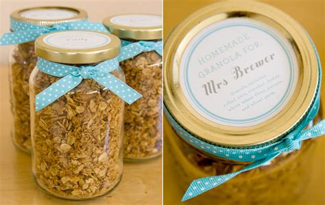 diy bridal shower favors ideas diy favors granola the sweetest occasion
