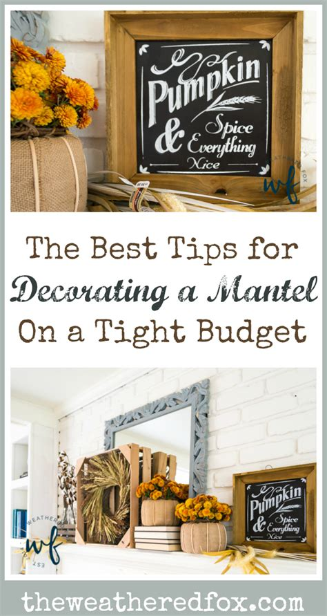 the best fall decor on a budget bless er house mantel decor ideas that won t break the bank the