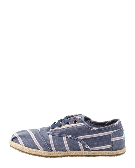 toms oxford shoes toms womens navy cordones striped canvas oxfords ijshoes