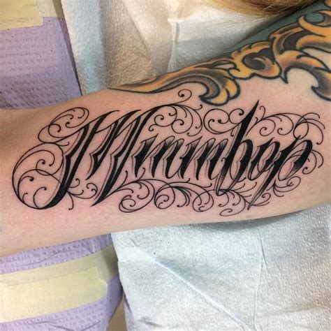 lettering tattoos 110 best lettering designs meanings 2018