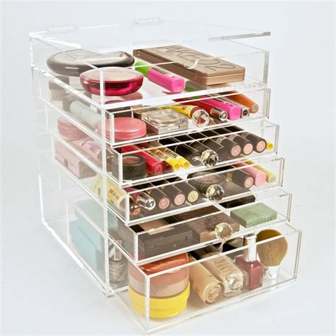 Beautiful Cosmetic Organizers by Clear Acrylic Makeup Organizer Cosmetics Storage