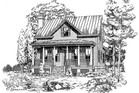 Small Home Plans Magazine Coosaw River Cottageplan 671 18 Small House Plans