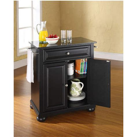 crosley alexandria solid granite top portable kitchen crosley furniture alexandria solid black granite top