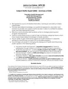 Curriculum Vitae Summary by Subject Matter Expert Doc Resume 4 5 2011 2 2 1 1