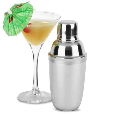 stainless steel mini cocktail shaker 10oz bar equipment
