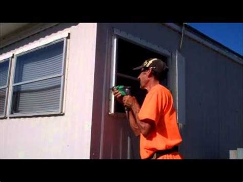 window replacement in a mobile home leaks how to repair