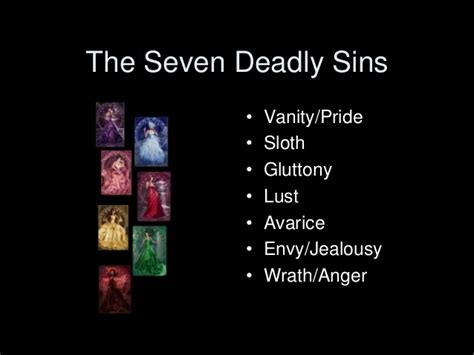 the sins of the 7 deadly sins