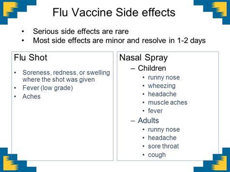 flu shot reactions in children influenza ppt download