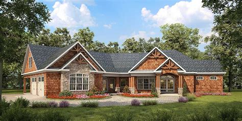 angled craftsman house plan dk architectural