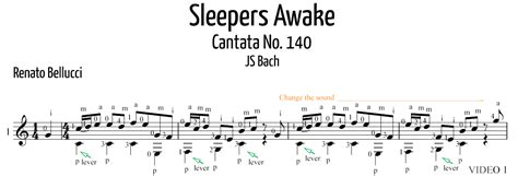 Sleepers Awake by Mangore Guitars J S Bach Quot Sleepers Awake Quot