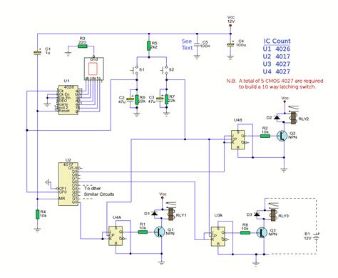 circuit switching diagram 10 way electronic switch