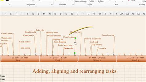 create timeline  ms excel   timeline