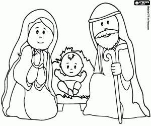 imagenes de jesus jose y maria para colorear kolorowanki szopka betlejemska malowanki