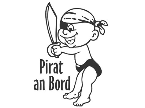 Autoaufkleber Baby Pirat by Kinder Autoaufkleber Kinder Autofolie Pirat An Bord