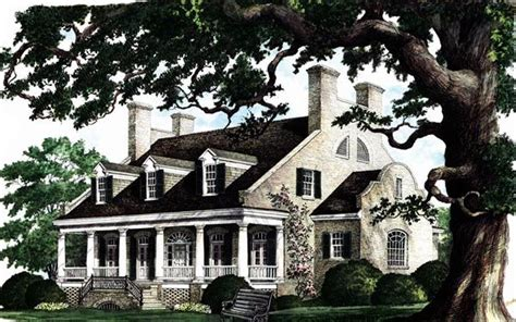 southern plantation house plans colonial plantation southern house plan 86174 house