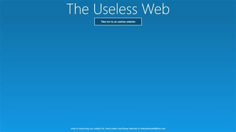 The Useless Web - Best Windows 8 Apps Useless Websites Game