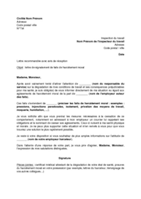Exemple De Lettre De Démission Pour Harcelement Modele Lettre De Demission Harcelement Moral Document