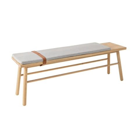 bench with cushions bloomingville straight wooden bench with cushion living