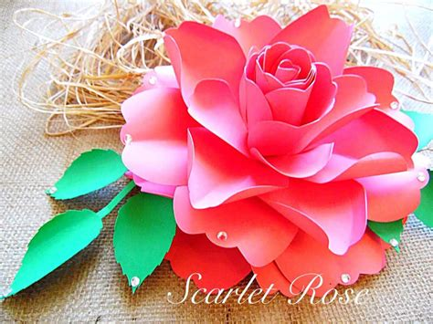 diy paper flower template large paper flower templates and svg files diy paper