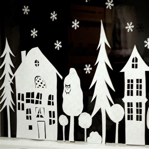 Fensterdeko Weihnachten Stadt by Ein Schweizer Garten Das Adventsfenster