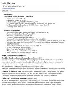 Exles Of High School Resumes For College by Resume Templates For Senior Citizens Resume Template Exle