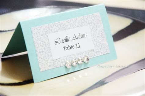 tiffany blue place cards wedding place cards diy project