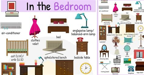 in the bedroom in the bedroom vocabulary names of bedroom objects 7 e s l